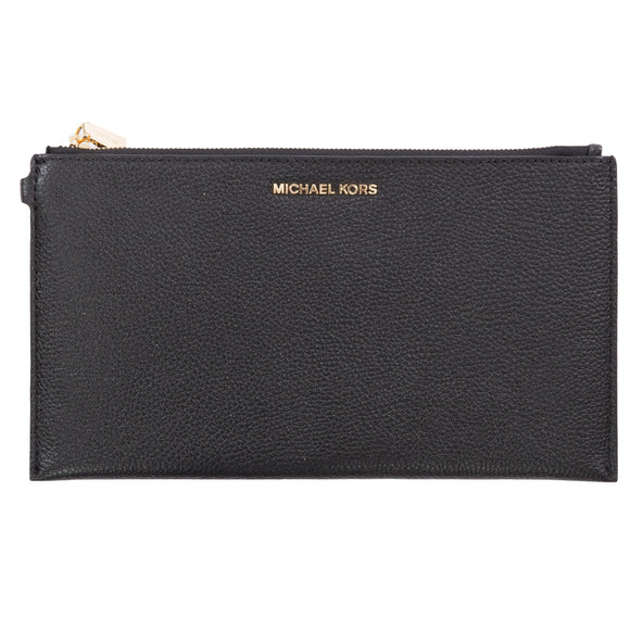 Michael Kors Large Zip Clutch Wristlet, Black