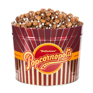 Popcornopolis 2 Gallon Hot Cocoa & Marshmallow Popcorn Tin