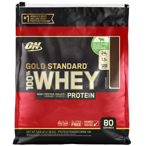 Optimum Nutrition Gold Standard 100% Whey Protein, 80 Servings - FREE SHIPPING