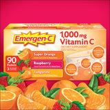 Emergen-C Vitamin C 1,000 mg. Variety Pack Drink Mix, 90 Packets