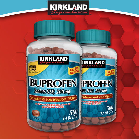 Kirkland Signature Ibuprofen, 200 mg., 1,000 Tablets