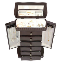 Jewelry Box with Lift-Top Mirror