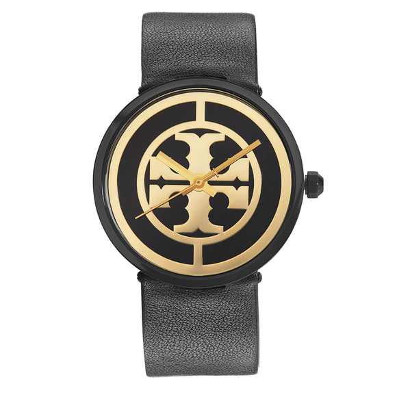 Tory Burch Black Leather Strap Ladies Watch