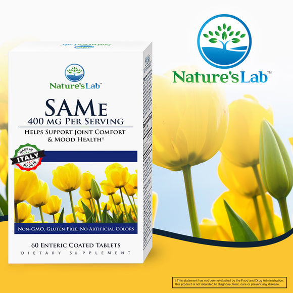 Nature's Lab SAM-e 400 mg., 60 Enteric Coated Tablets