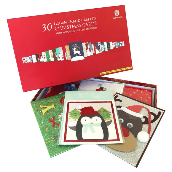 Burgoyne Handmade Christmas Cards, 30-count