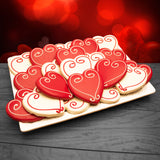 Hand Decorated Valentine's Day Cookies 24-count