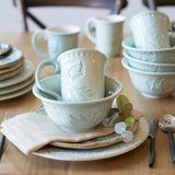 Fitz and Floyd Toulouse Green 16-piece Dinnerware Set