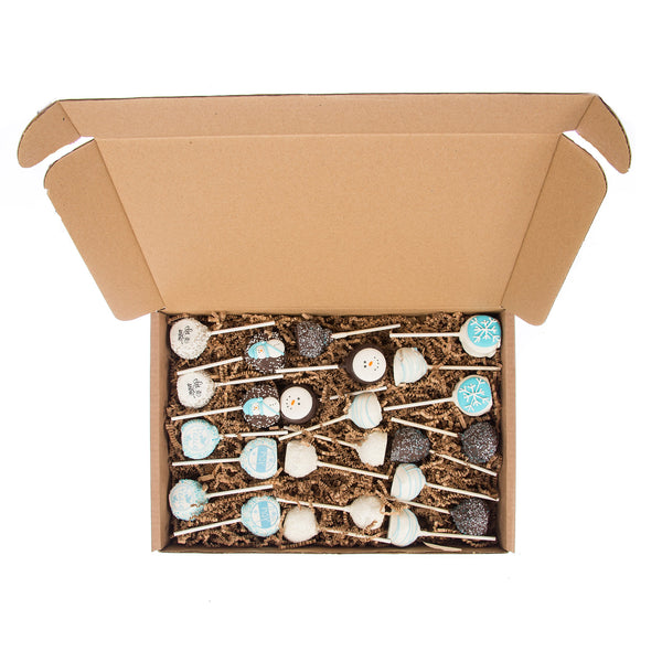 Winter Gourmet Truffle Cake Pops 24-pack