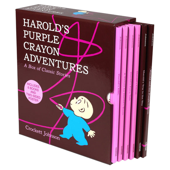Harold's Purple Crayon Adventures: 6 Picture Book Box Set by Crockett Johnson