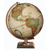 "Replogle 12"" Antique Colored Globe w/Walnut Base"