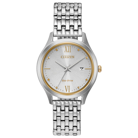 Citizen Chandler Eco-Drive Two-Tone Stainless Steel Ladies Watch