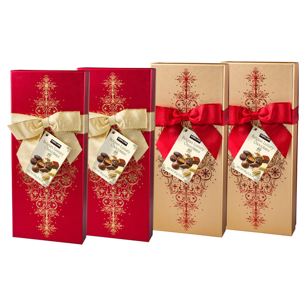 Kirkland Signature Luxury Belgian Chocolate 2 Red & 2 Gold Boxes, 4-count