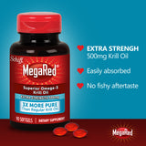 Schiff MegaRed Omega-3 Krill Oil, Extra Strength 500 mg., 90 Softgels