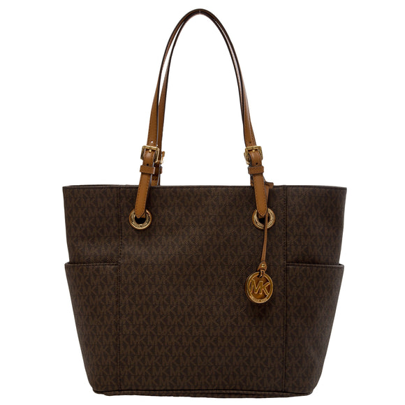 Michael Kors Jet Set Signature Tote, Brown