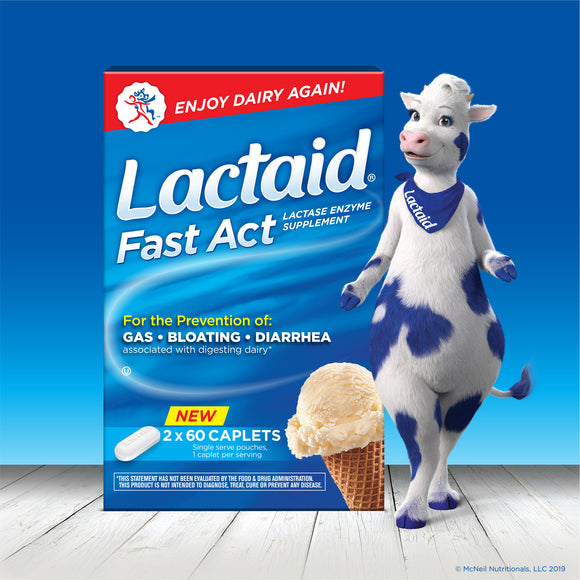 Lactaid Fast Act, 120 Caplets