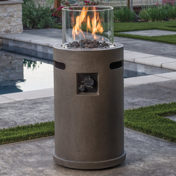 Outdoor Gas Fire Column