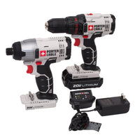 Porter Cable 2pc Drill & Driver Kit 20-Volt Max Li-Ion