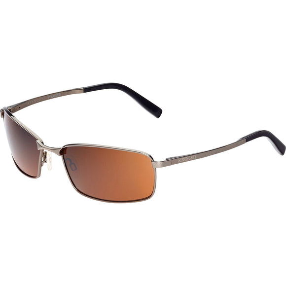 Serengeti Martindale 8310 Shiny Gunmetal Polarized Sunglasses