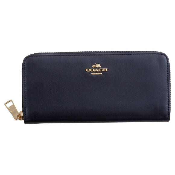 Coach Slim Accordian Wallet, Black