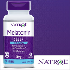 Natrol Melatonin Time Release 5 mg., 250 Tablets
