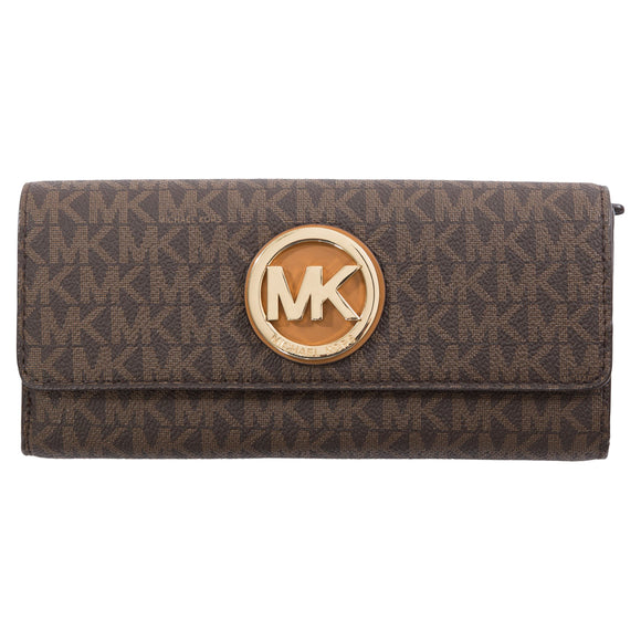 Michael Kors Fulton Large Carryall Wallet, Brown