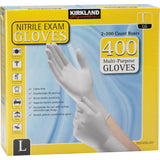 Kirkland Signature Nitrile Exam Gloves, 400-count