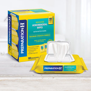 Preparation H Medicated Wipes, 180 Wipes