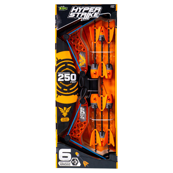 Zing Hyperstrike Bow with 6 Arrows - Orange