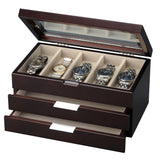 Watch Box with Two Drawers