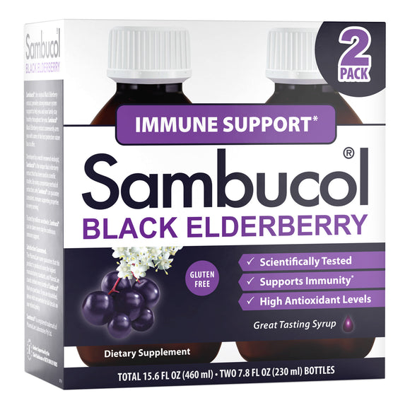 Sambucol Black Elderberry Immune Support Syrup, 15.6 Ounces