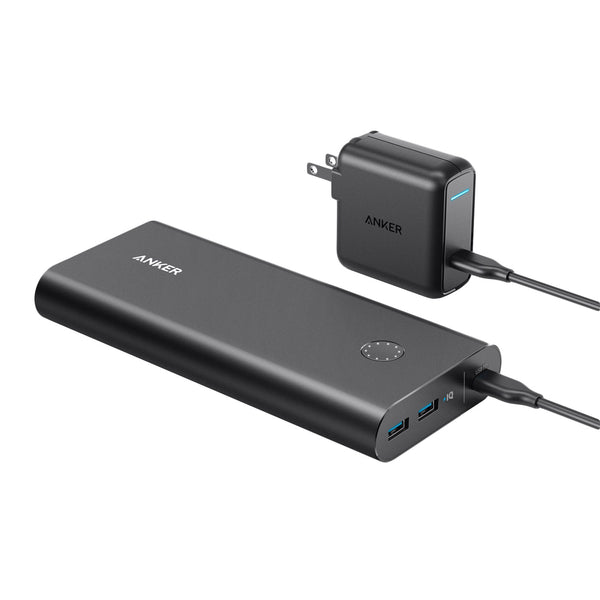 Anker Powercore 26,800mAh Powerbank and Wall Plug