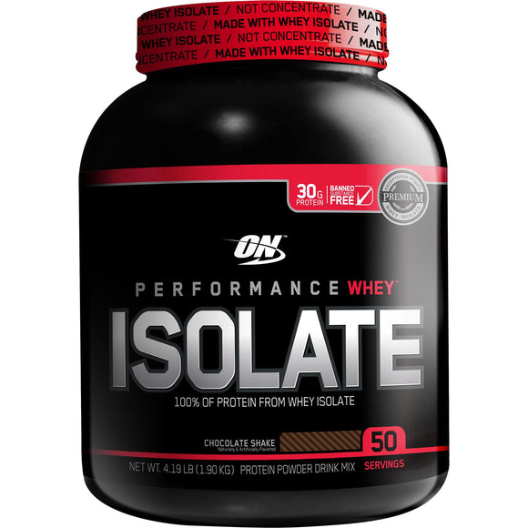 Optimum Nutrition 100% Whey Protein Isolate, 4-pounds - FREE SHIPPING