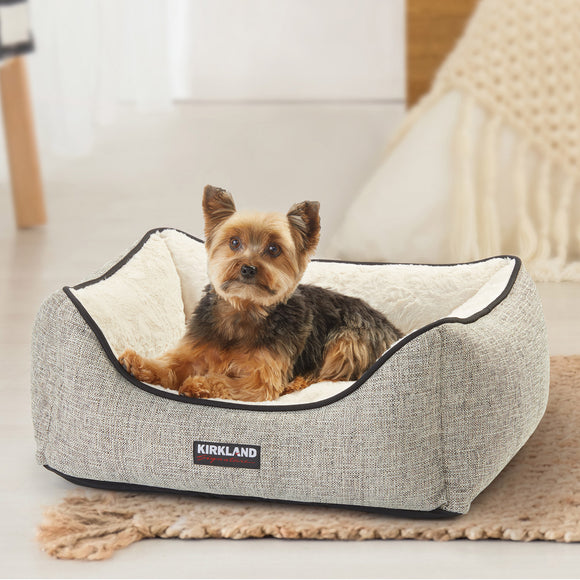 Kirkland Signature Rectangular Cuddler Dog Bed, Grey