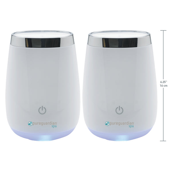 PureGuardian Spa Ultrasonic Aromatherapy Oil Diffuser 2-pack
