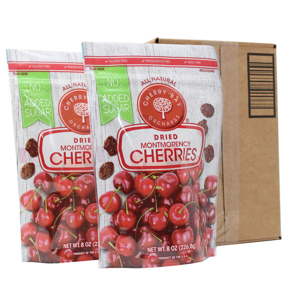 Cherry Bay Orchards No-Added-Sugar Dried Montmorency Cherries 8 oz Bag 2-pack