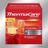 ThermaCare Lower Back & Hip L/XL, 10 HeatWraps
