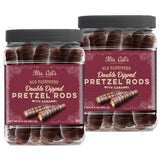 Mrs. Call's Old Fashioned Double Dipped Pretzel Rods with Caramel, 2-count