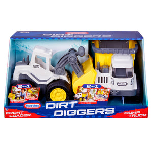 Little Tikes Dirt Diggers with Front Loader & Dump Truck, 2-pack