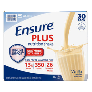Ensure Plus Nutrition Vanilla Shake 8 fl. oz., 30-pack