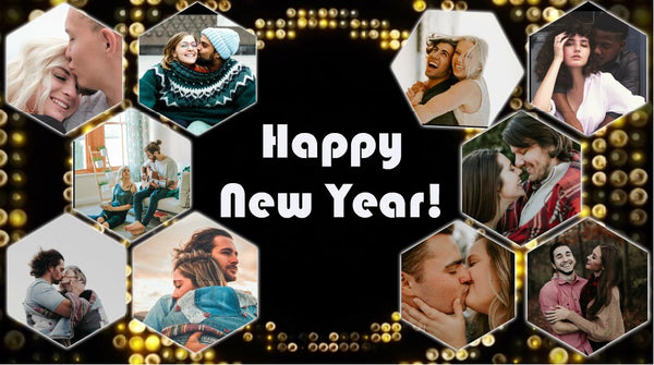 Personalize This Photo Collage Video with your Photos and Texts (New Year Count Down)