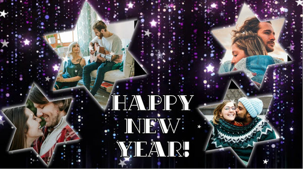 Personalize This Photo Collage Video with your Photos and Texts (New Year)
