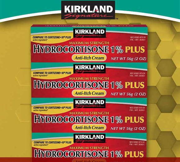 Kirkland Signature Hydrocortisone 1% PLUS Anti-Itch Cream, 8 Ounces