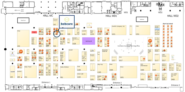 Bebcare Booth Location Map