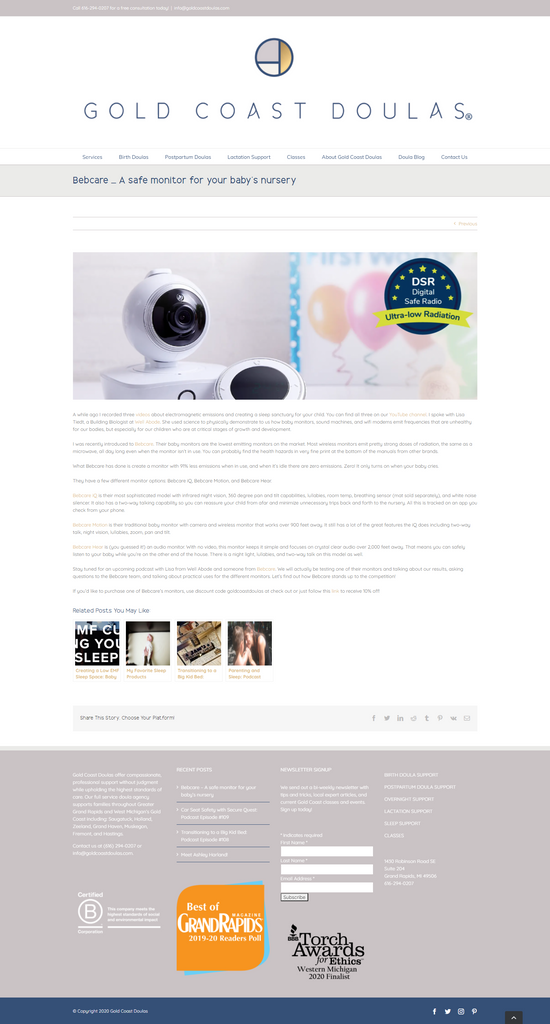 Bebcare Baby Monitor Review by Gold Coast Doulas