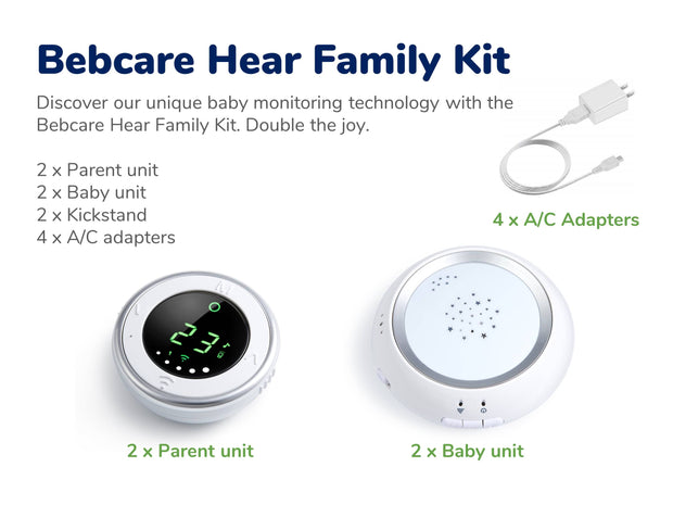 Bebcare Hear Digital Audio Baby Monitor (Family Kit)