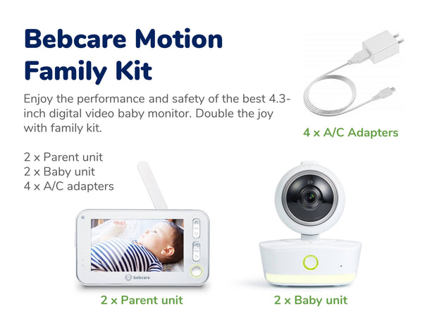 Bebcare Motion Digital Video Baby Monitor (Family Kit)