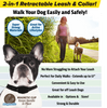 Image of Retractable Leash & Collar For Dogs