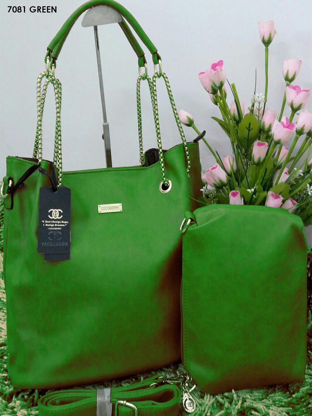 Green Stylish Combo Women Handbag