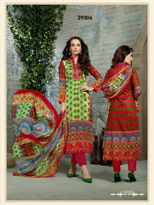 Lemon Green Exclusive Designer Straight Suit