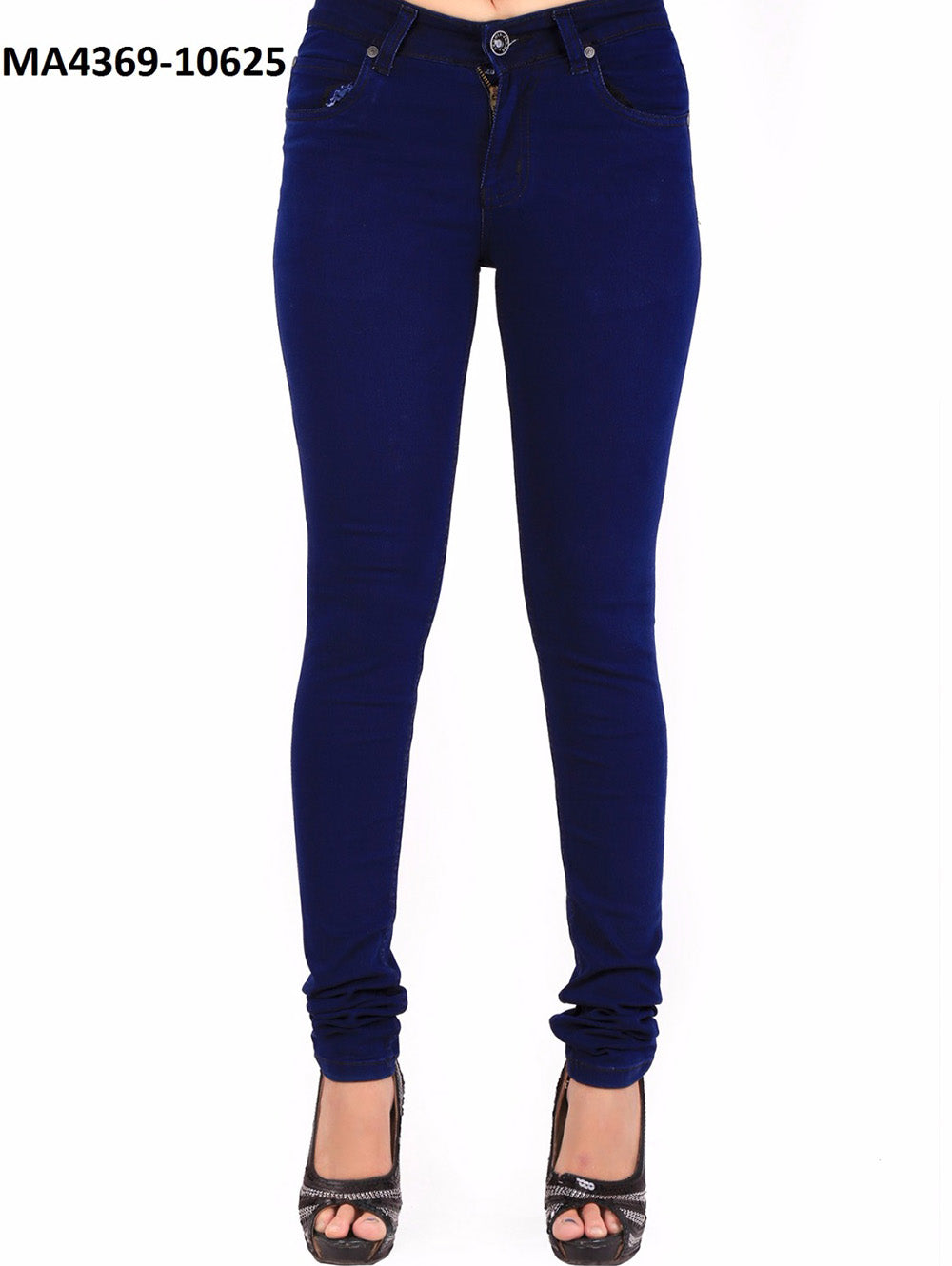Midnight Blue Designer Denim Stitched Jeans